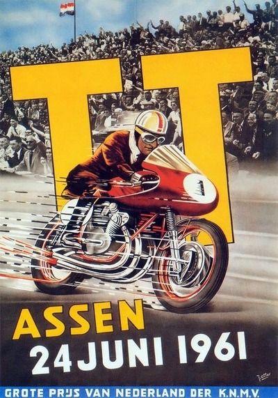 TT Assen June 1961 Motorcycle Poster