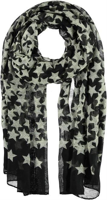 Mooie zwarte sjaal met sterren van Passigatti.   #scarf #sjaal #stars #sterren #fashion