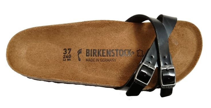 Birkenstock Almere sandal, patent black by Birkenstock. Buy it 64,00 €