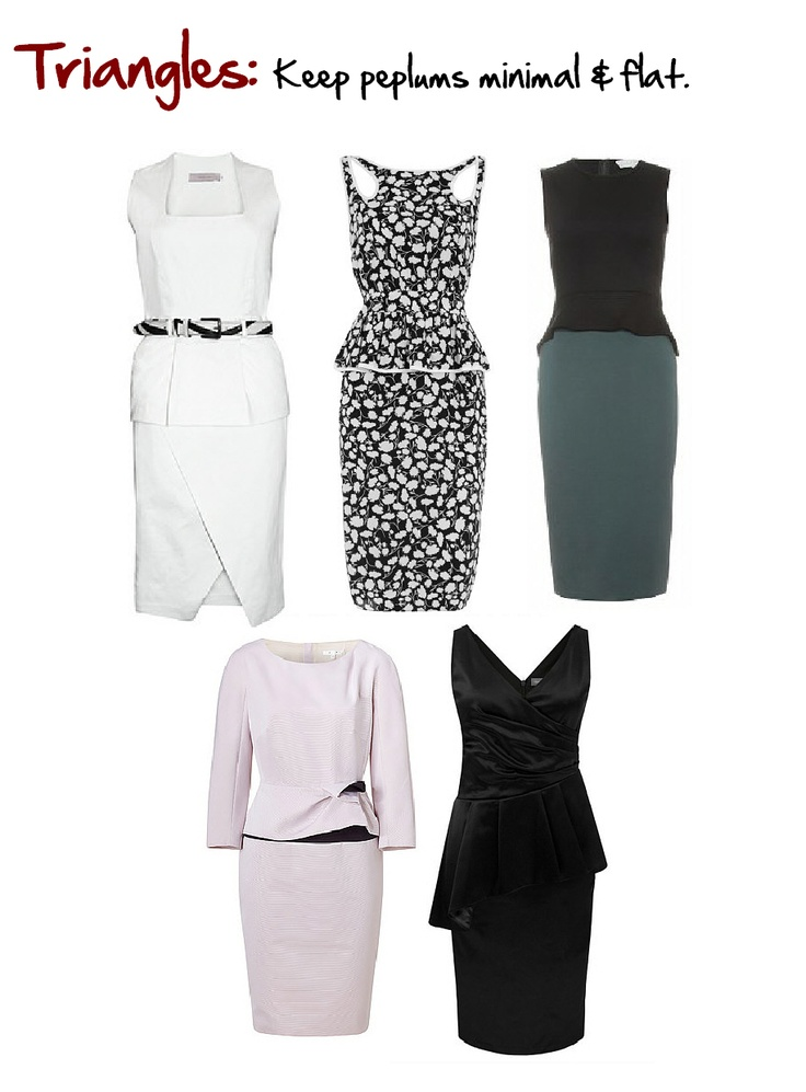 Triangle Body Shapes: Women larger below their waist than above. www.myprivatestylist.com