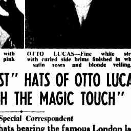 "30 Jul 1952 - WOMEN RUSH ""LAST"" HATS OF OTTO LUCAS, ""THE MAN W..."