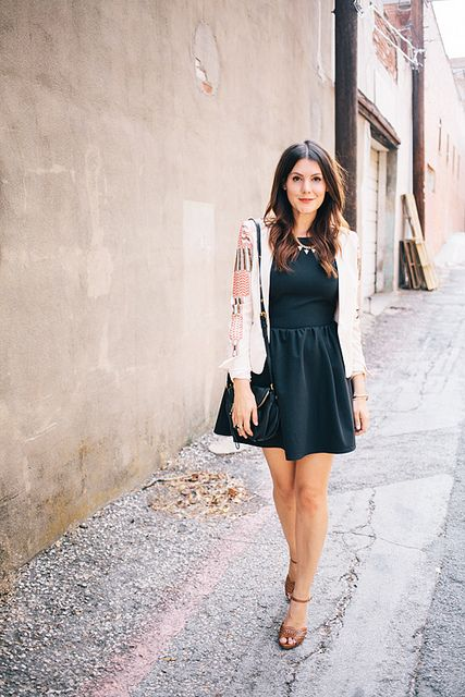 Fit n flare dress with blazer