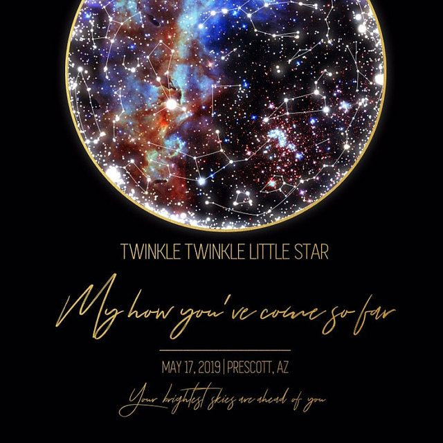 Star Map Poster Custom Sky Map Printable Celestial Wedding Space