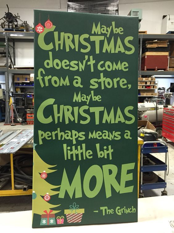 Christmas canvas, the grinch who stole Christmas