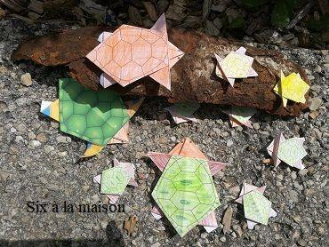 colorigami coloriage et origami enfants tortue vacances occuper activité diy