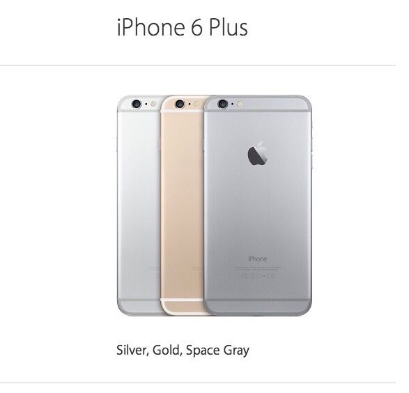 iPhone 6 Plus  First released : Sepember 19, 2014