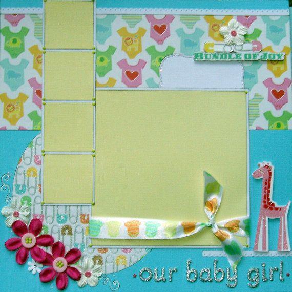 12x12 custom baby album, 20 made to order pages plus free album.. $265.99, via Etsy.