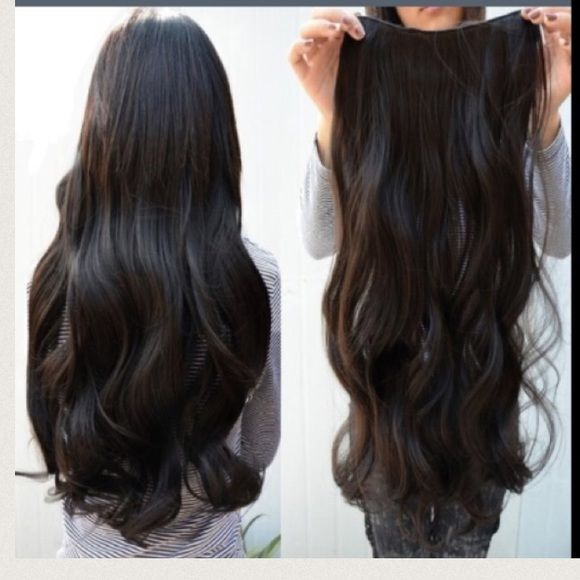 "⚡️⚡️ Special Price⚡️⚡️$15 Long Hair Extensions Wavy   Sexy and elegant look One piece with 5 clips Quality: 100% High Temperature Fiber Synthetic  Length:  Straight :60cm(+/- 3cm) 25.6 ""(+/-1.18"") Wavy :55cm(+/- 3cm) 21.6 ""(+/-1.18"") Color: Dark Brown Accessories Hair Accessories"