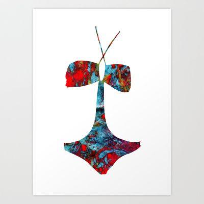 SWIM2 Art Print by Lucy Claire Nash - $16.64
