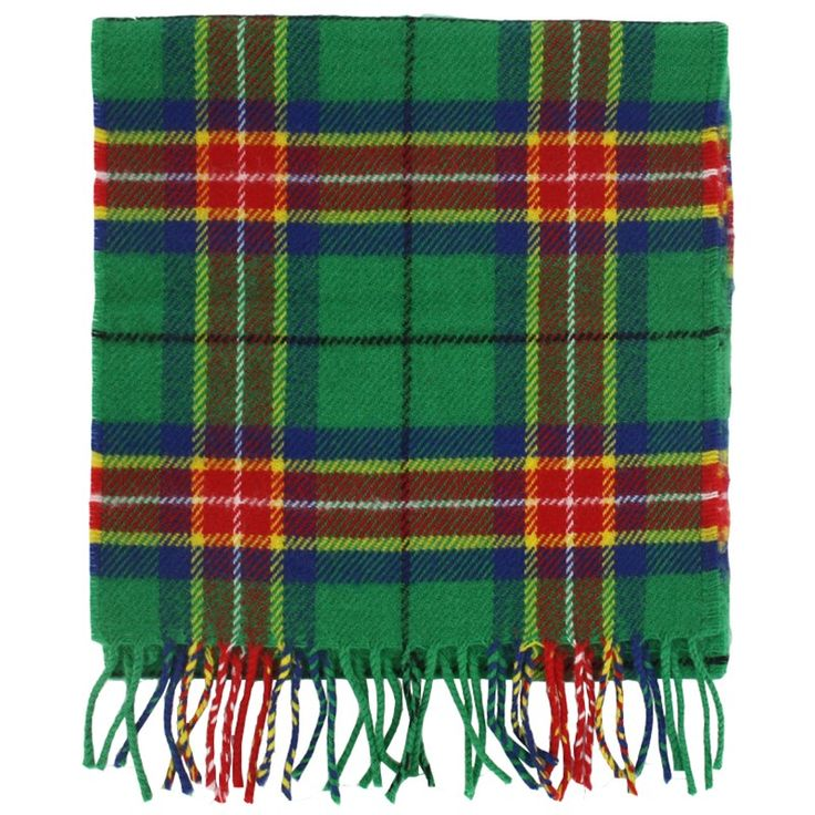 Cheer on the athletes at the 2014 Glasgow Commonwealth Games and remember this momentous event with a brushed lambswool scarf in the bold colours of the specially designed games tartan.  - Scarf dimensions: 180 x 25cm - Fringed ends - Made in Scotland - 100% wool woven in Scotland