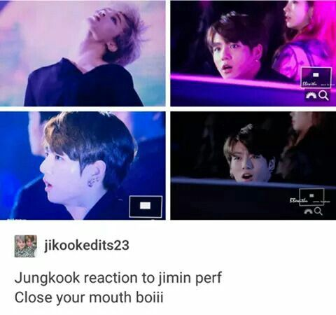 He should be in awe. Jimin is so talented and JK forgets that sometimes I think