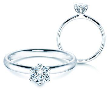 Verlobungsring Classic Vorsteckring passt perfekt zum Verlobungsring die perfekt passenden Trauringe finden Sie bei uns im Shop unter https://www.verlobungsringe.de/selbst-gestalten/