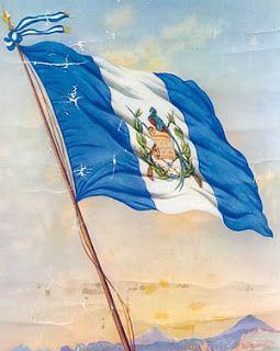 La bandera nacional de Guatemala. ¿Puedes explicar qué representan los colores y las rayas de la bandera?
