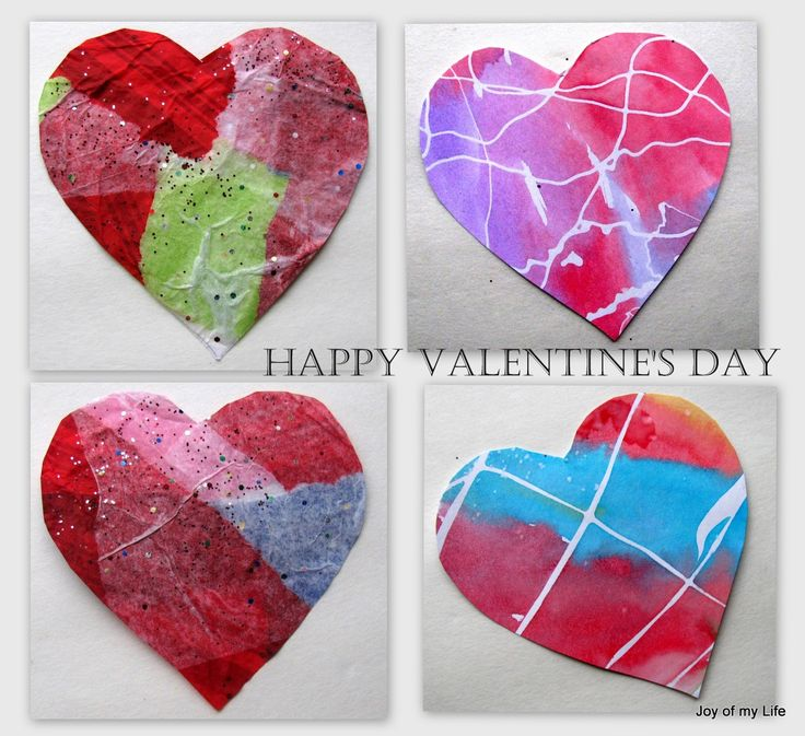 kids crafts valentines day crafts rubber cement masking and tissue paper hearts