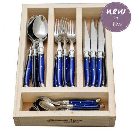 LAGUIOLE - French Blue Jean Neron 24-Piece Cutlery Set