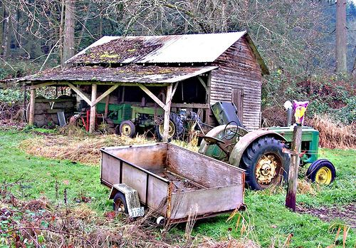 old john deere tractors by david w. pearcy
