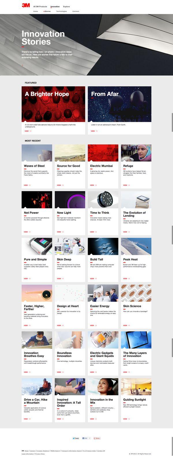 3M Innovation Website #webdesign #design #designer #inspiration #user #interface #ui