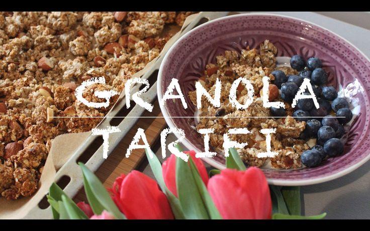 Granola nasil yapilir? | Muzlu, bademli granola tarifi