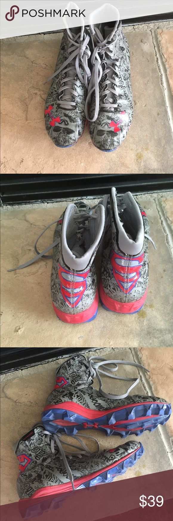 Under Armour Superman cleats Very good condition, very cool Under Armour Shoes