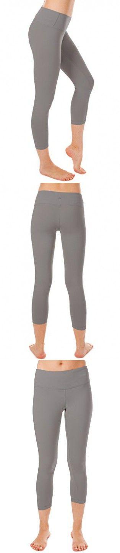 90 Degree By Reflex - 22 Inch Yoga Capris - Hidden Pocket - Silver Grey - S