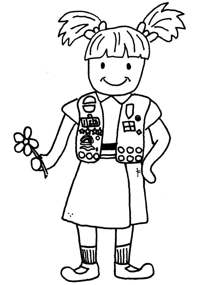 It is an image of Simplicity Girl Scout Coloring