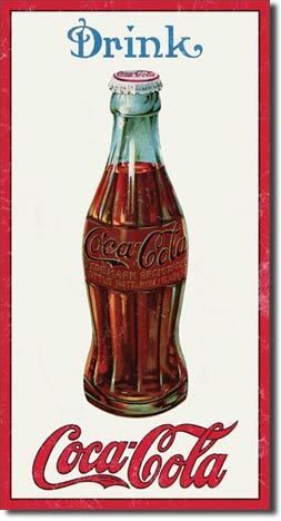 Drink Coca Cola TIN SIGN metal ad bottle advertising decor coke