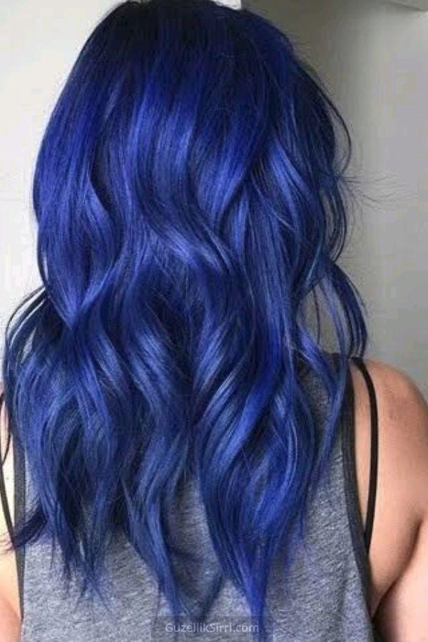 Gece Mavisi Sac Rengi 2020 Mavi Sac Renkleri Mavi Sac Boyalari