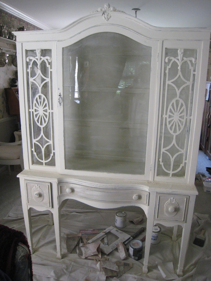 40 best painted china cabinets/hutches images on pinterest