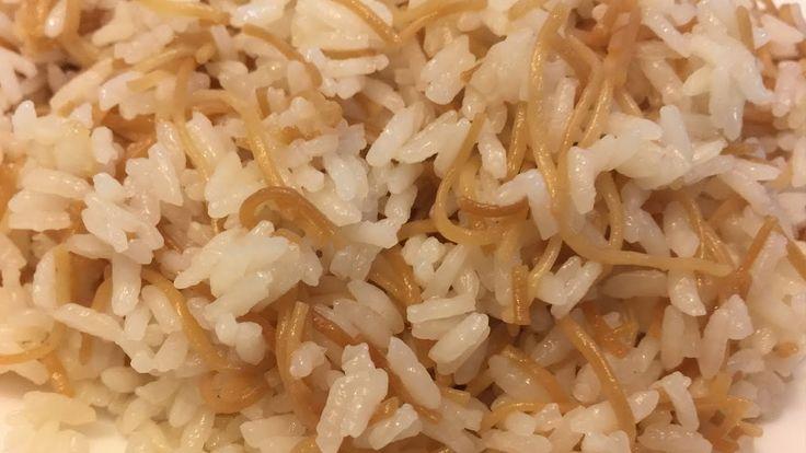 Egyptian Rice طريقة عمل رز مصري بالشعيرية بدون ما يعجن Youtube Food Grains Rice