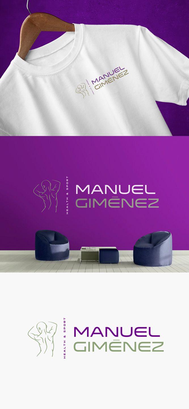 Diseño de logotipo para Manuel Giménez, un entrenador personal, quiromasajista y asesor de nutrición que contactó con nosotros porque estaba a punto de abrir su propio local después de estar años trabajando para distintos gimnasios.