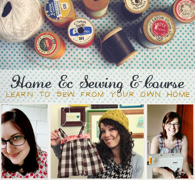 online home ec sewing classes..I need to bite the bullet and do this