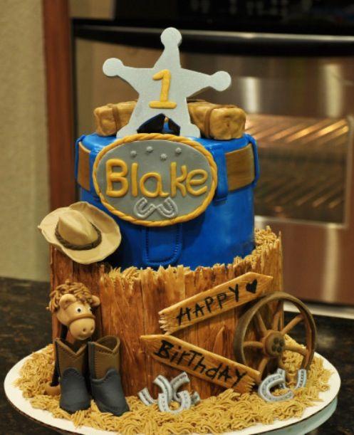 Western Birthday Cake Becky Sheridan  cakeswebake.com