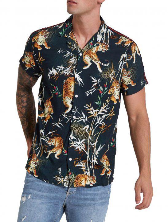 c07f60c6094 River Island Tiger Print Shirt - Buddy | postkulture man in 2019 ...