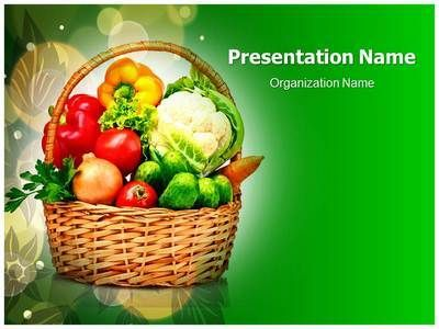 EditableMedicalTemplates.com presents state-of-the-art Vegetable Basket #PowerPoint #template for medical professionals. Create great-looking medical PowerPoint presentations with our Vegetable Basket medical PowerPoint theme. #Nutrition #Healthy #Vegetables #Health #Food #Diet