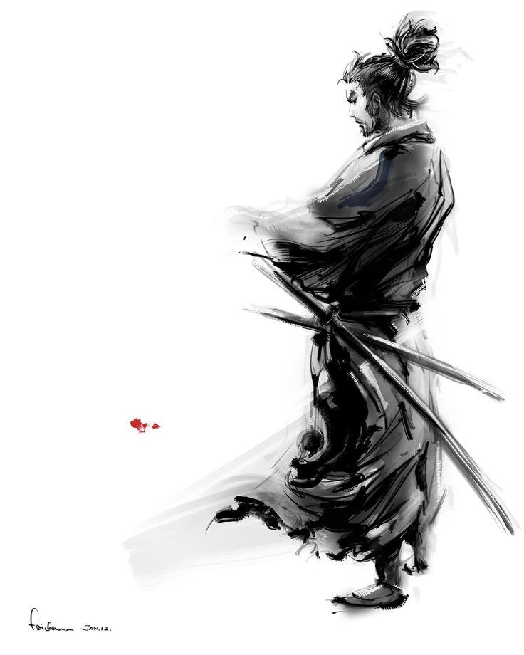 "xombiedirge: "" Miyamoto Musashi by Fai Chan """