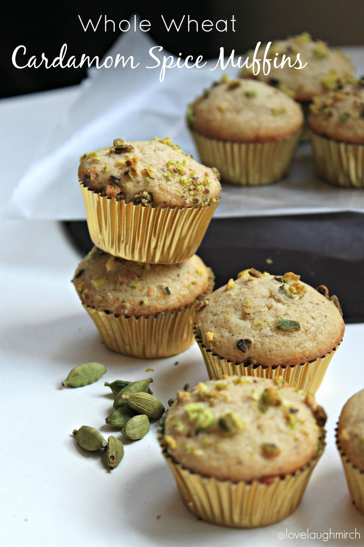 Whole Wheat Cardamom Spice Muffins