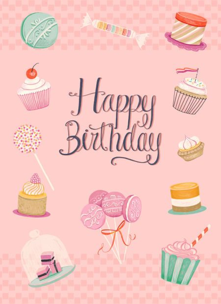 Pimlada Phuapradit - Birthday Card_cupcake