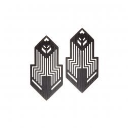 Futuristic and geometric earrings from NANO collection by Anna Orska.