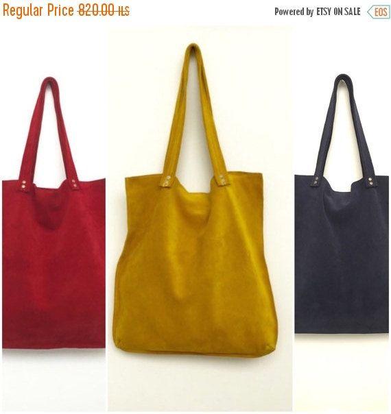 Bolsa de gamuza amarillo cuero amarillo bolso de por BagsByPancha