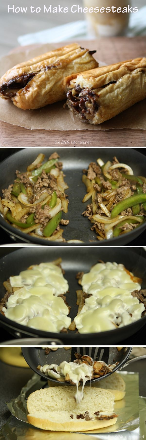 Cheesesteaks de TheLittleKitchen.net