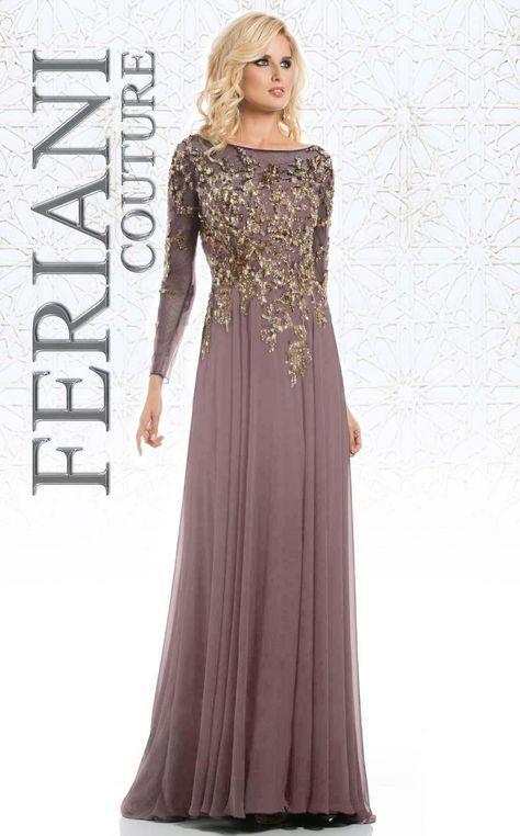 d72ccfa55d1 Feriani 26145 Long Sleeve Evening Gowns