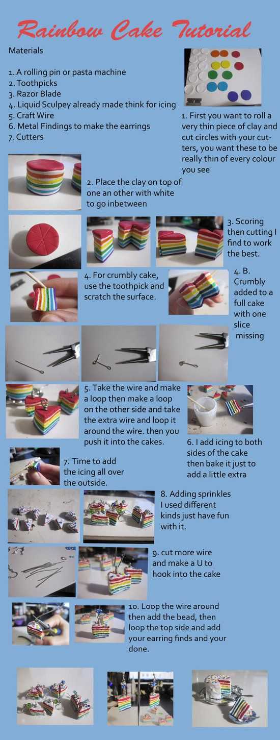 Clay Rainbow Cake Tutorial by ~CandyChick