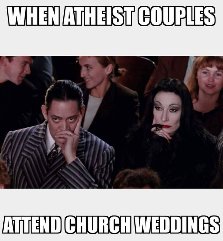 When atheist couples attend church weddings