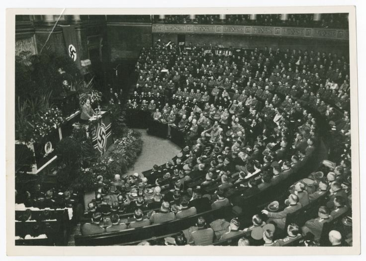 Alfred Rosenberg speaks to the French National Assembly.