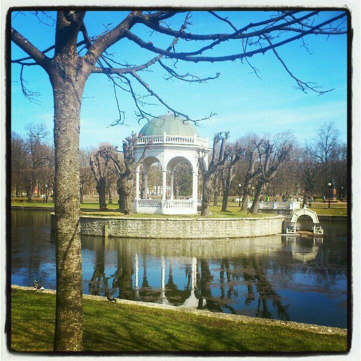 Kadriorgin puisto. Suosittu kohde on puiston joutsenlampi. #Kadriog