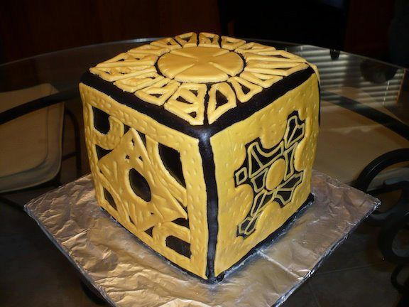 25 Horror Movie Cakes That We're Dying To Eat! Hellraiser Box Cake.