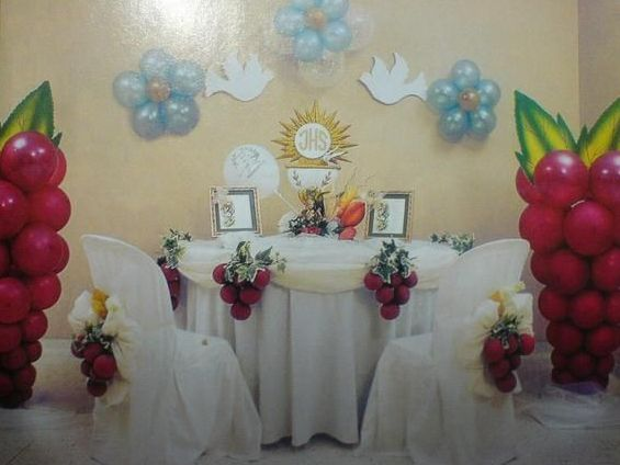 Decoracion para primera comunion buscar con google - Decoracion para mesas de centro ...