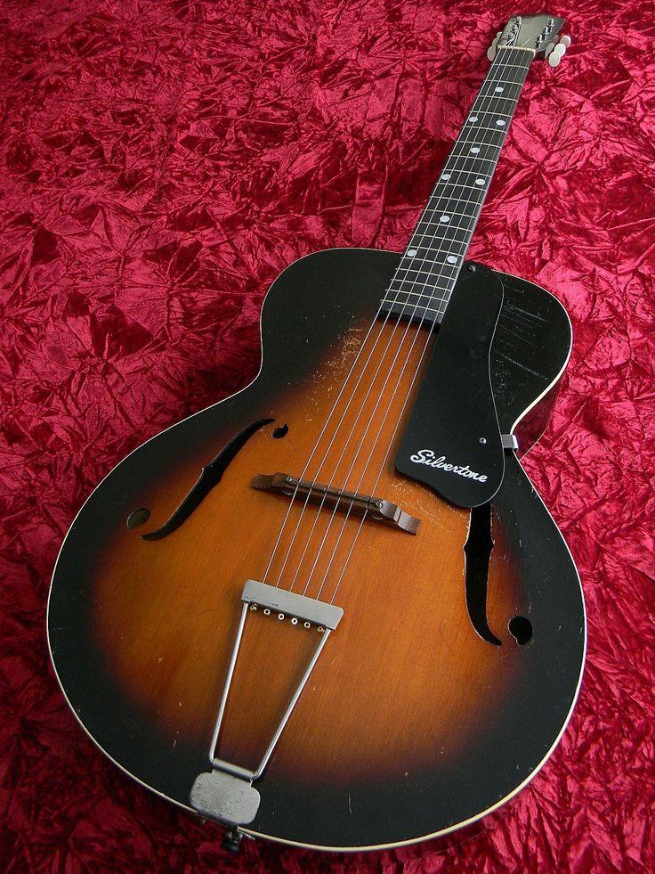 harmony vintage 1938 archtop acoustic guitar jazz silvertone pickguard pre war jazz blues. Black Bedroom Furniture Sets. Home Design Ideas