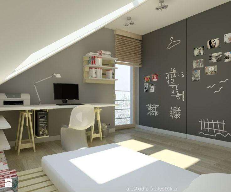 Dom pokazowy Nazaria dla Domenaprojekt.pl - Średni pokój dziecka dla chłopca dla nastolatka, styl nowoczesny - zdjęcie od Art Studio Pracownia Architektury i Wnetrz
