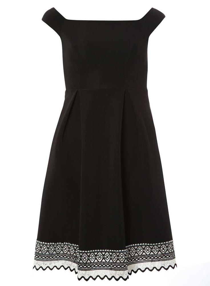Petite Black Bardot Dress